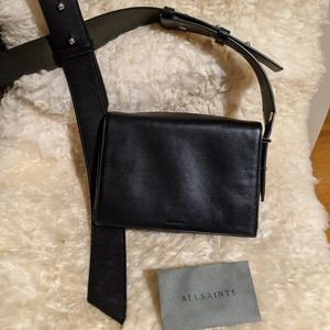 All saints cross body very soft leather